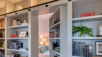 Architects and Interiors in Devon Bookshelf Secret Study Door