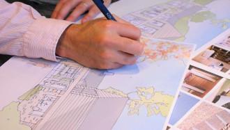 Architect sketch scheme TILE