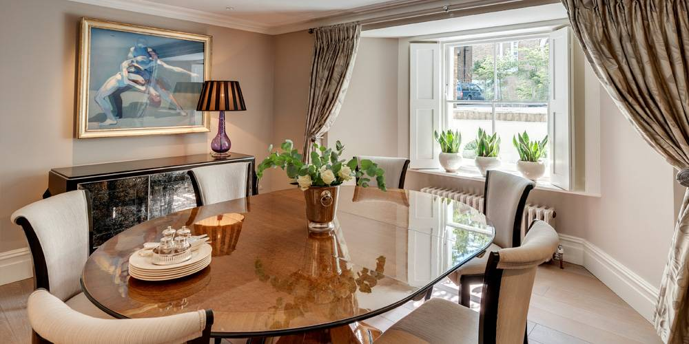 Architects in Devon London Townhouse Interior Design Dining room interior design devon