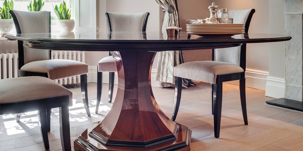 Devon Architects London Townhouse Interior Design Bespoke dining table interior design
