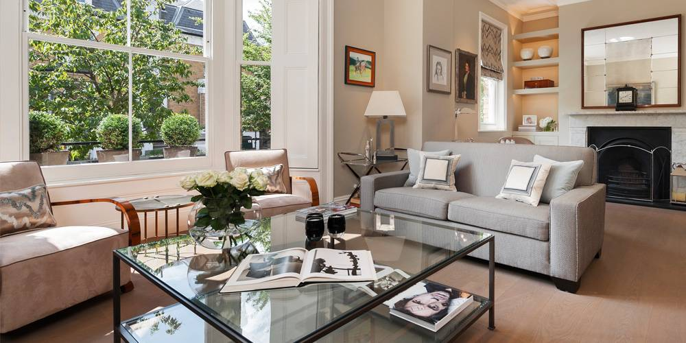 Exeter Architects Devon London Townhouse Interior Design neutral colour scheme living room