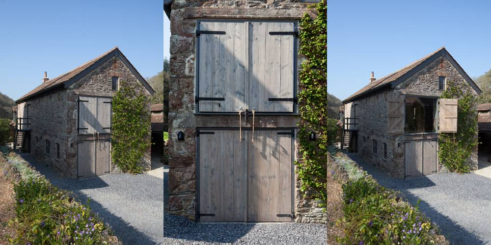 Devon Architects Main barn shutters open and closed
