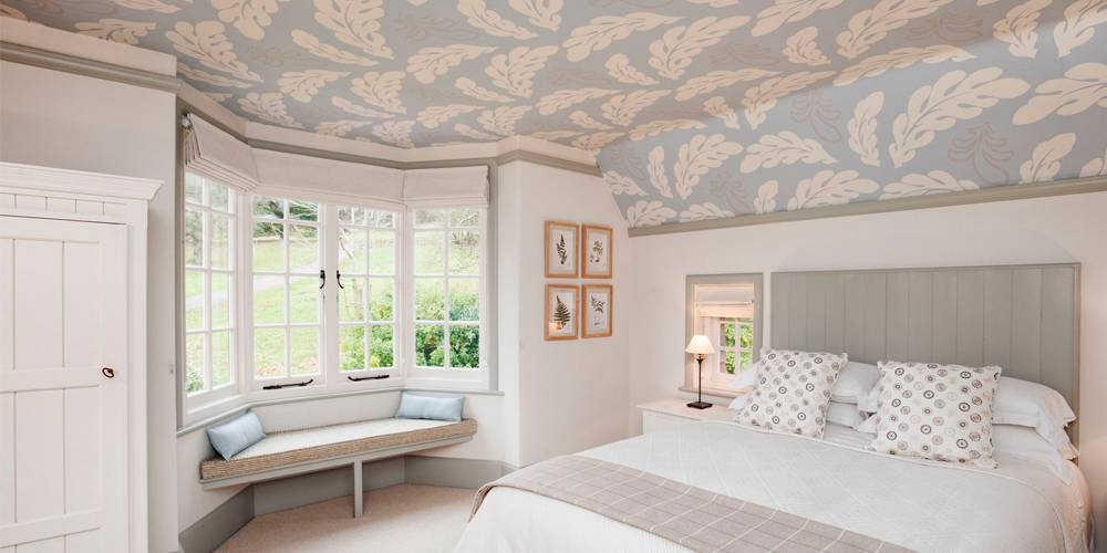 Interior Design Devon National Trust Holiday Cottage Wallpaper Ceiling