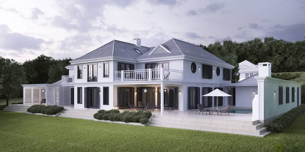 New Home Helford River Falmouth Cornwall Architects New England Hamptons style