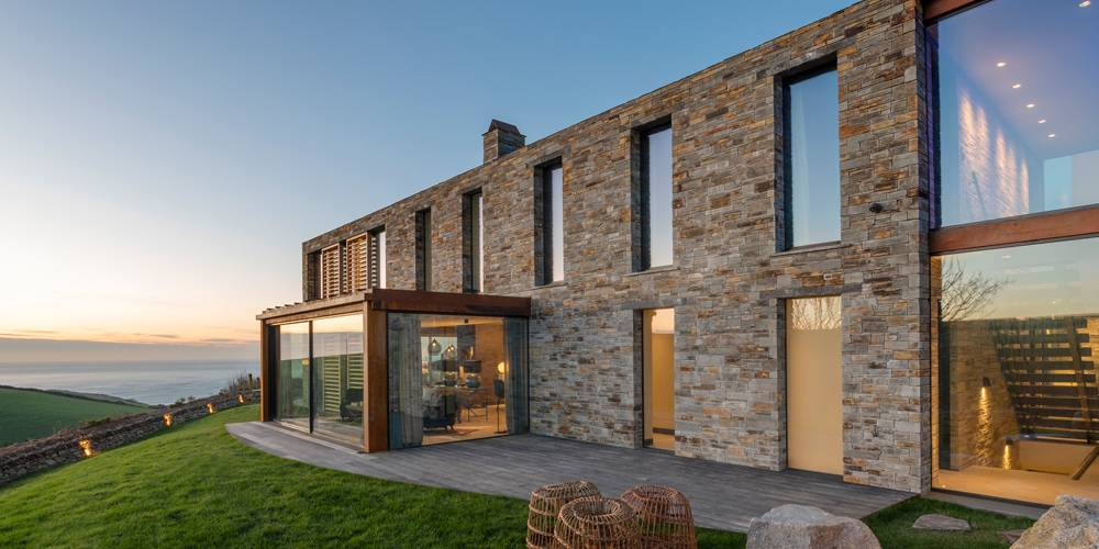 New Home in Cornwall Coast View Woodford Architecture and Interiors