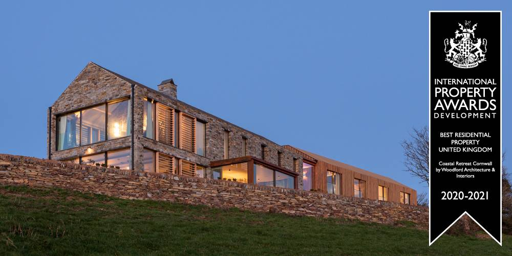 Retreat in Cornwall by Devon Architects Woodford Architecture and Interiors Award