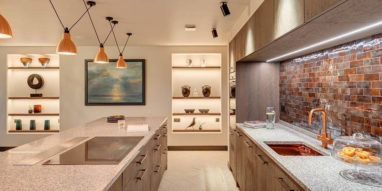 Architects Cornwall kitchen interior copper basin and taps