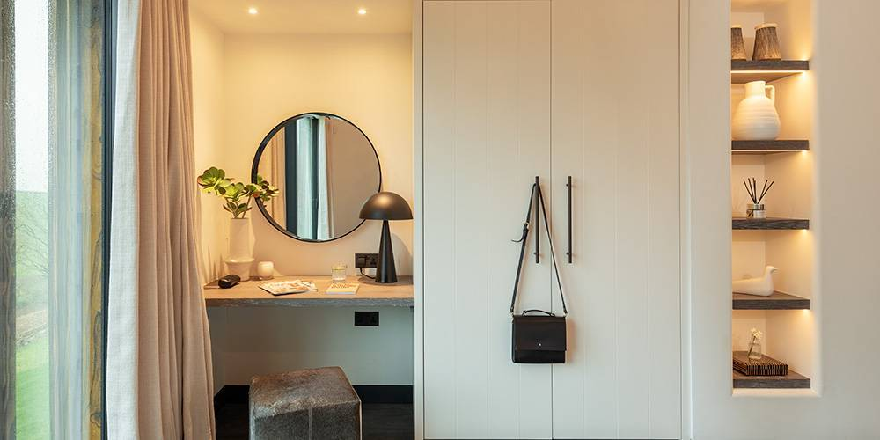 Architects Devon bedroom lighting details