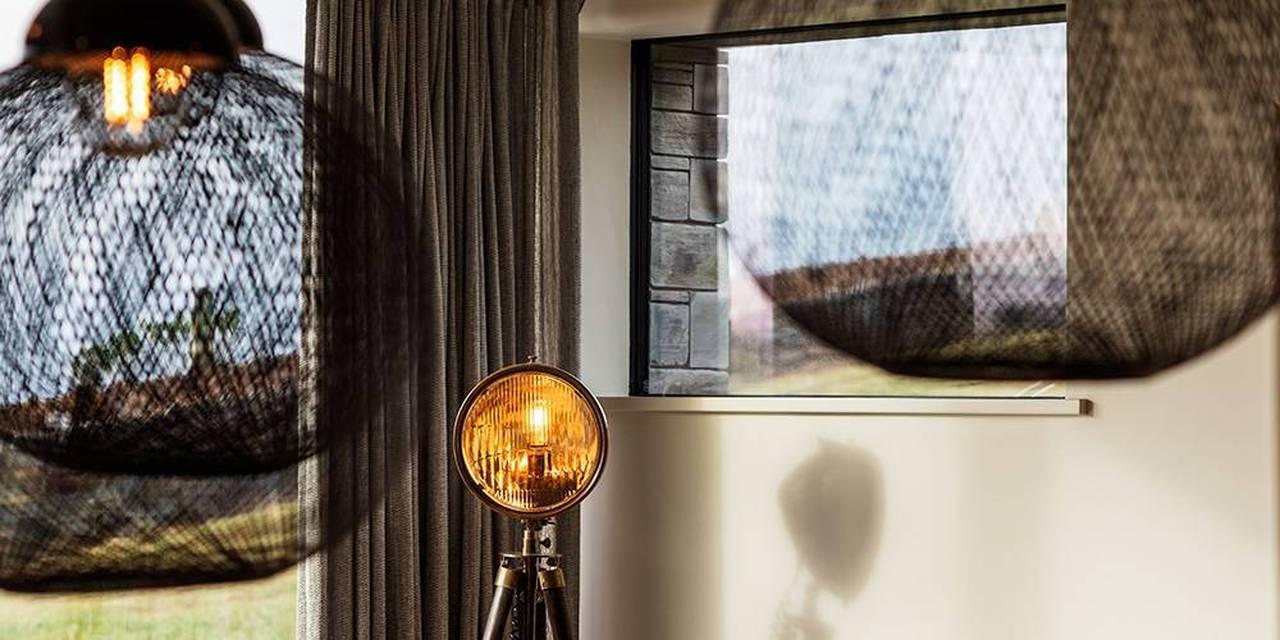 Architects Devon living room interior lighting detail