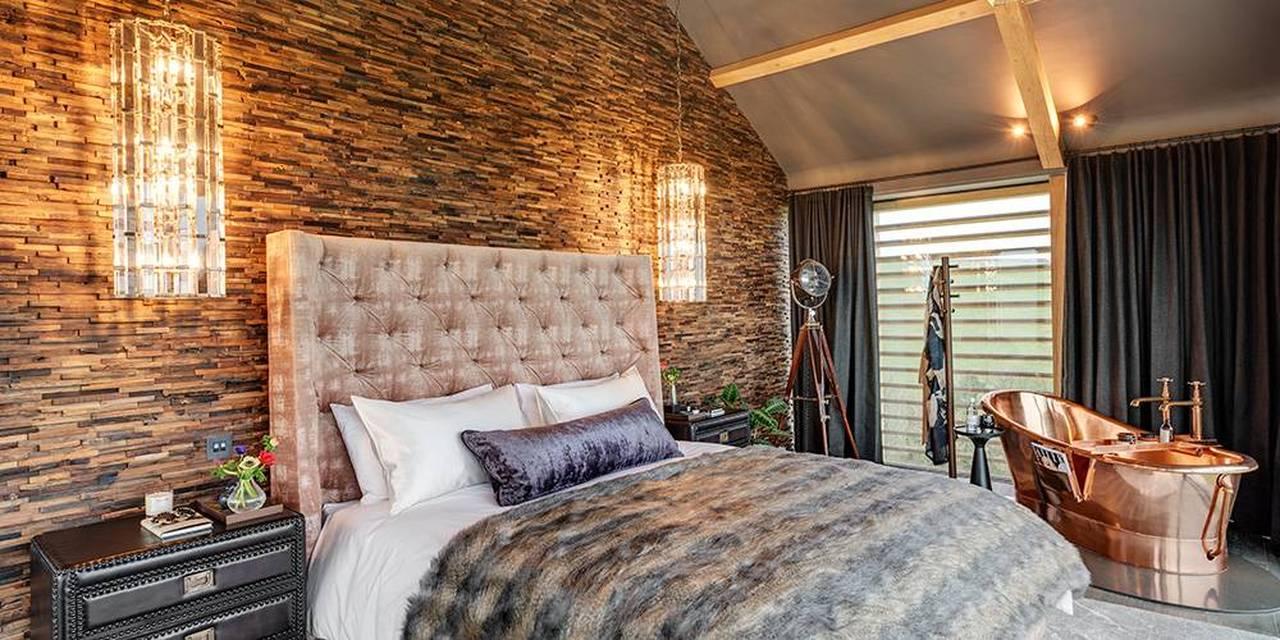 Devon architects master bedroom william holland copper slipper bath