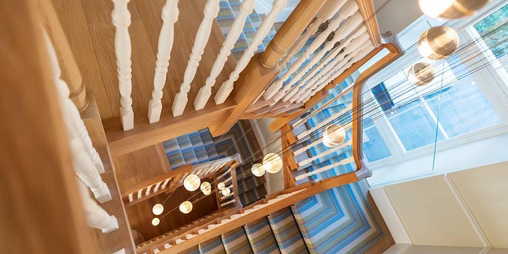 Architects Devon stairwell lighting