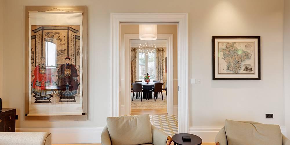 Devon architects interior lounge view