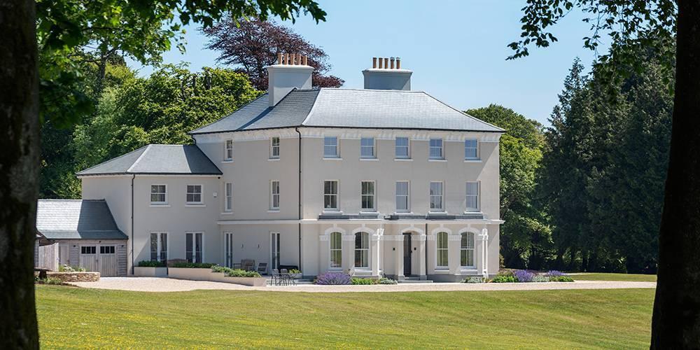 Devon architects manor house distant landscape view