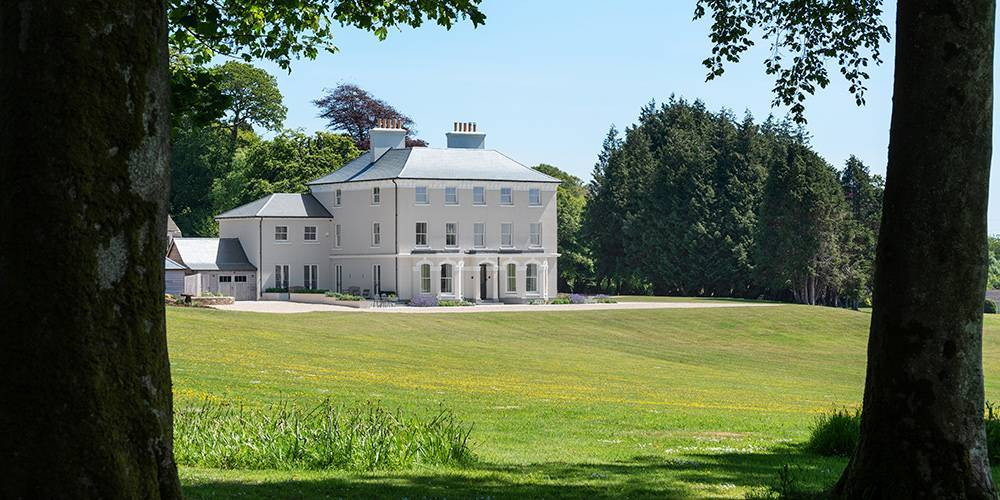 Devon architects manor house tree canopy view