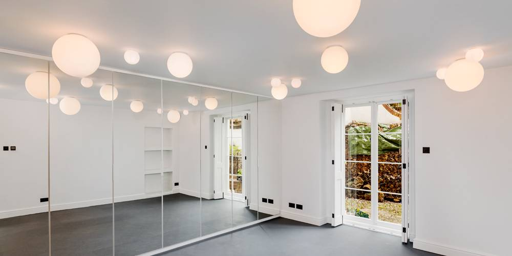 Architects Devon gym lighting and joinery