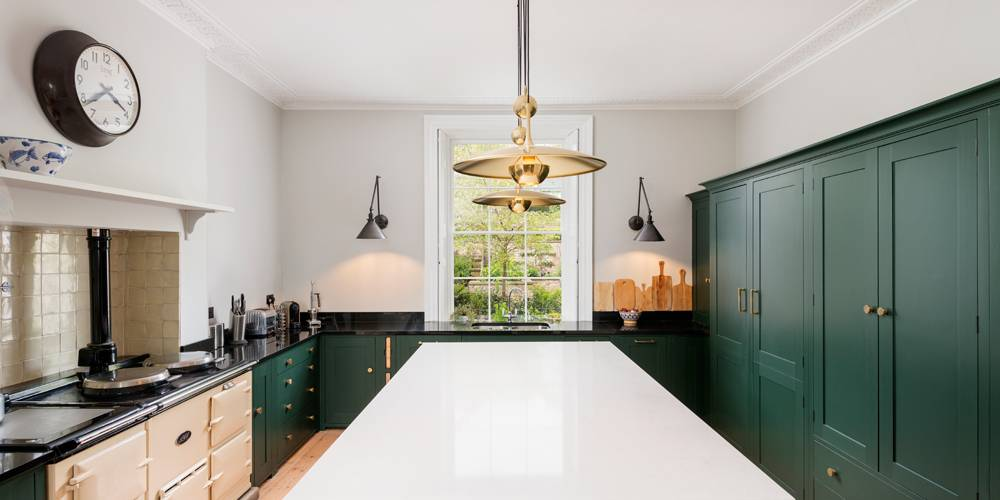 Architects Devon kitchen joinery colour and lighting