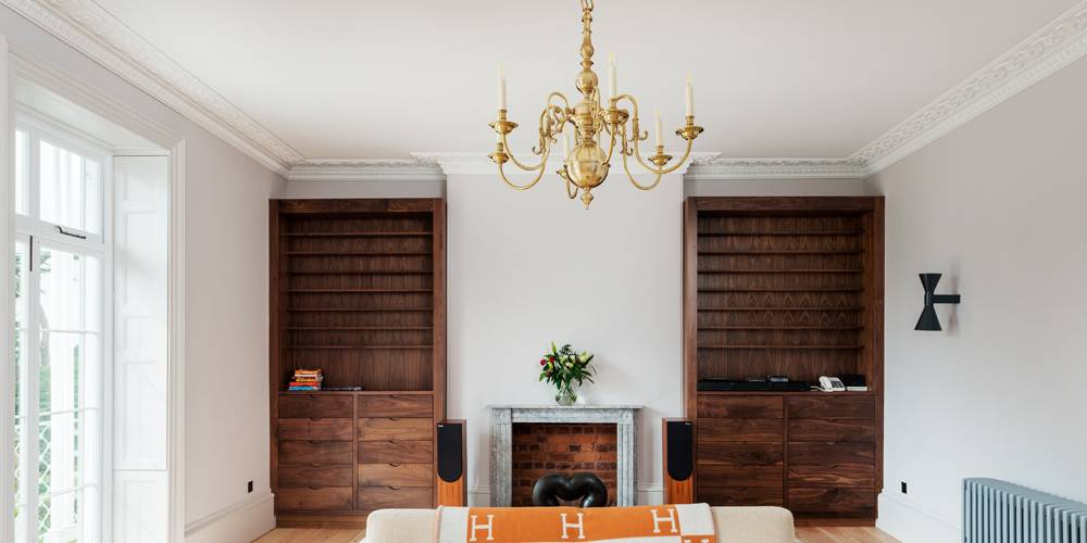 Architects in Devon Listed Villa Formal Lounge Joinery