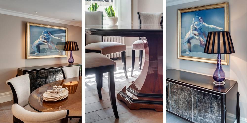 Architects in Devon London Townhouse Interior Design Dining room interior design