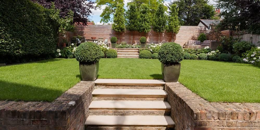 Architects in Devon London Townhouse Interior Design Garden landscaping