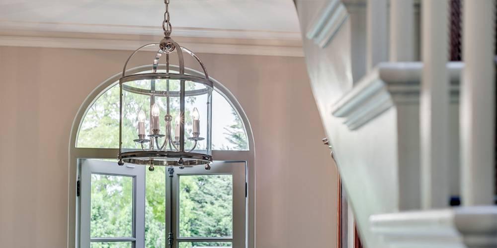 Architects in Devon London Townhouse Interior Design Hall lantern interior design