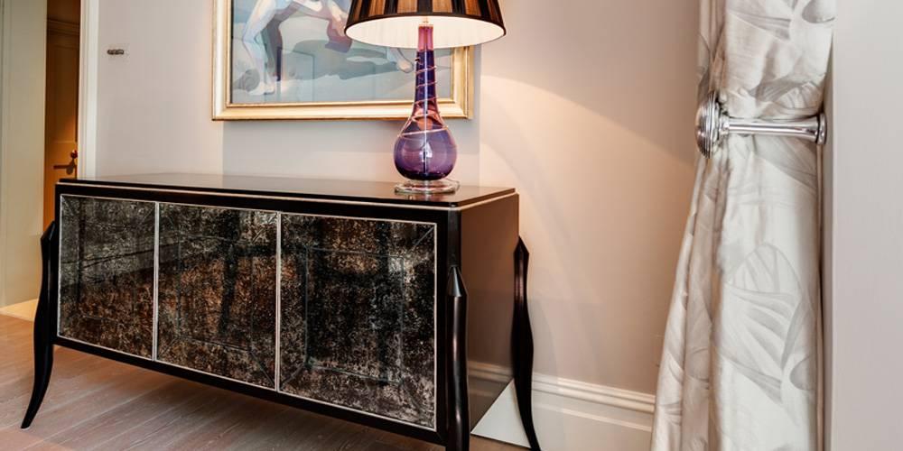 Architects in Devon London Townhouse Interior Design bespoke mirrored furniture
