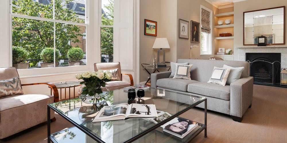 Exeter Architects Devon London Townhouse Interior Design neutral colour scheme living room