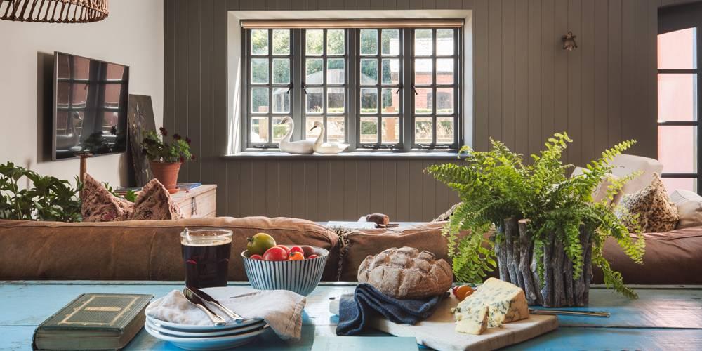 Luxury farmstay Devon interior design