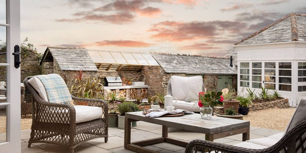 Architects Cornwall Country house and garden terrace