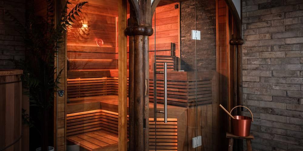Sauna and Ice bucket