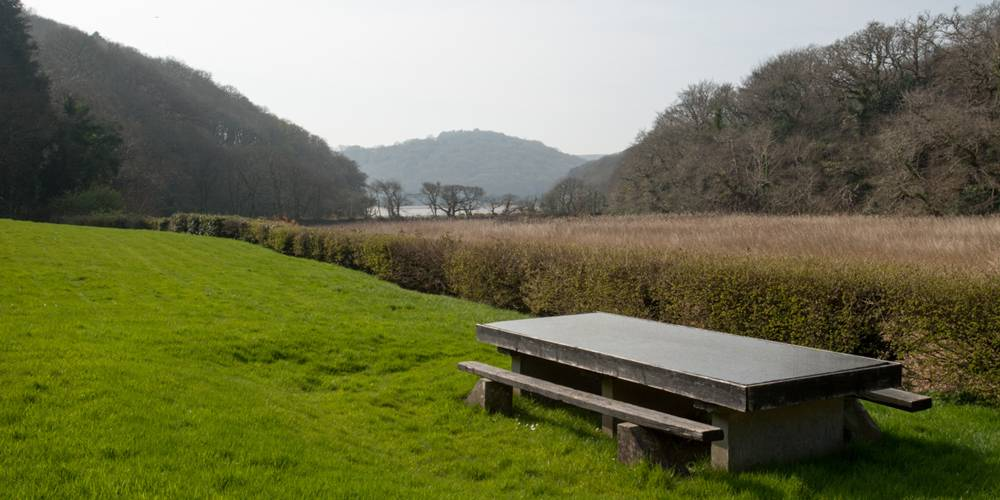 Devon Architect View from alfresco dining table to the estuary