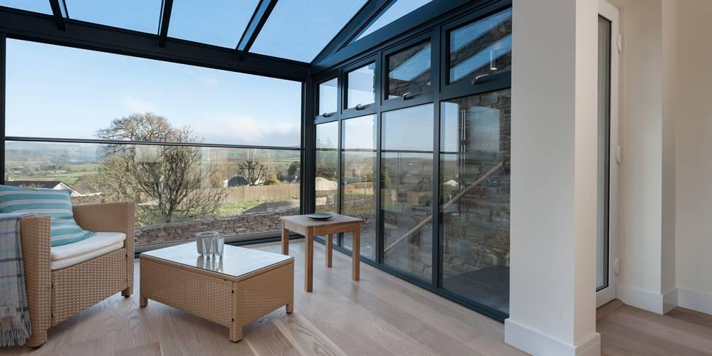Dartmoor sun room view interior