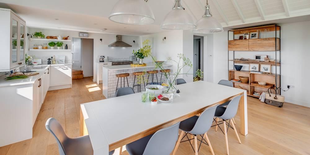Devon Holiday Home Kitchen Living