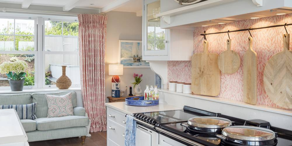 Architects Cornwall kitchen aga Hamptons style
