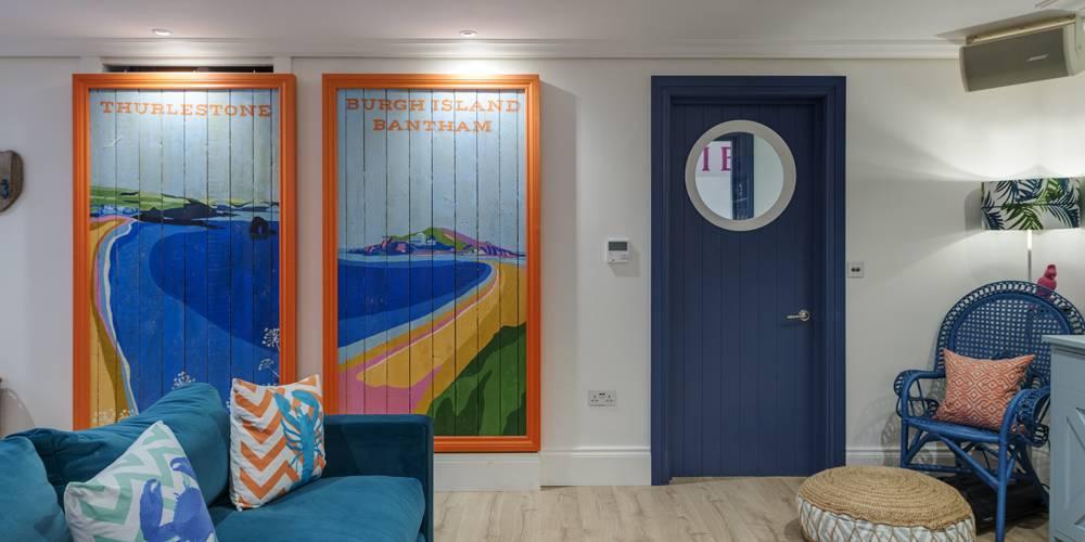 Architects Dartmoor Devon games room porthole door