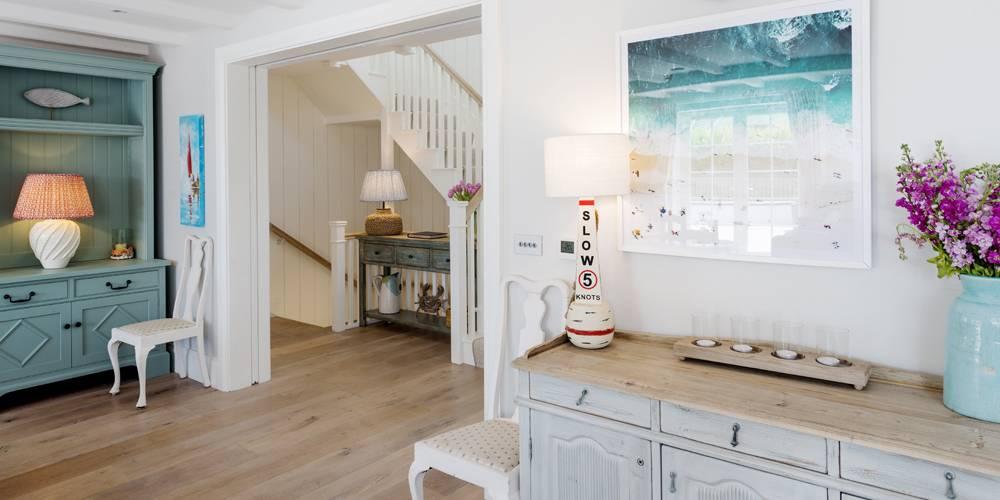 Architects Devon Hamptons style coastal home interior entrance