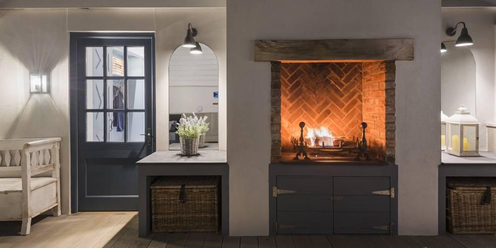 Architects Devon alfresco dining area oven