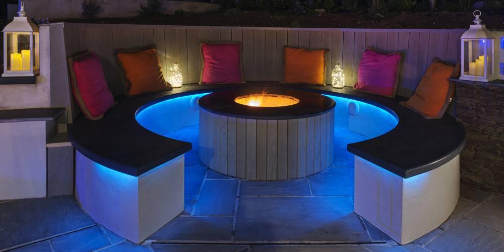 Architects Devon outdoor fire pit