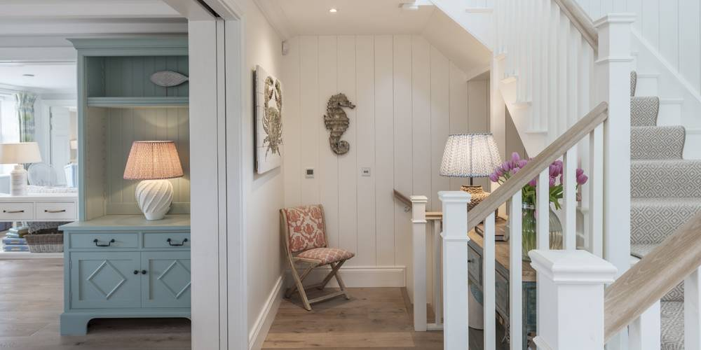 Architects Salcombe Hamptons Style stairwell and hallway