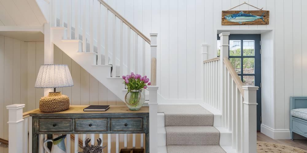 Architects Salcombe Hamptons style entrance hallway
