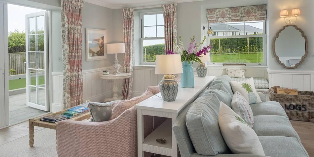 Architects Salcombe Hamptons style lounge