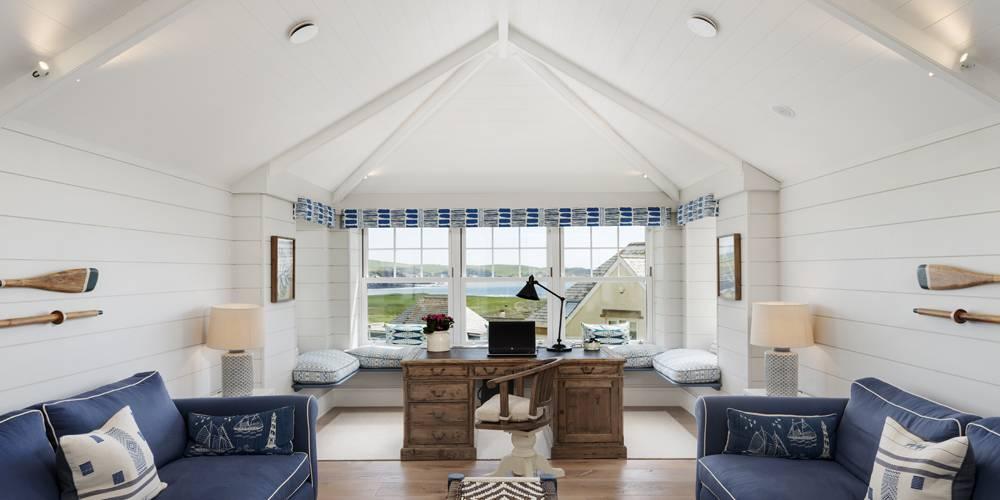 Interior design Devon Hamptons style study
